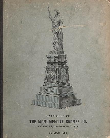 White bronze monuments, statuary, portrait medallions, busts, statues, and ornamental art work by Monumental Bronze Co