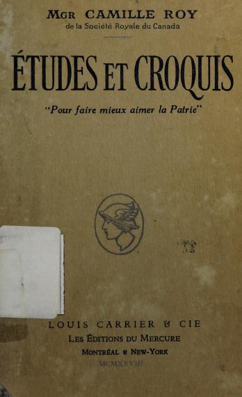 Études et croquis. -- by Roy, Camille