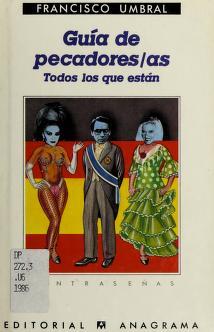 Cover of: Guía de pecadores/as   Francisco Umbral
