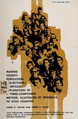 Cover of: Making county population projections   James D. Tarver
