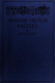Cover of: Modern French writers   Rosine Mellé
