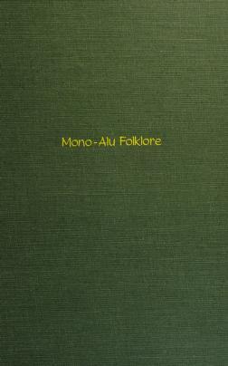 Cover of: Mono-Alu folklore | G. C. Wheeler