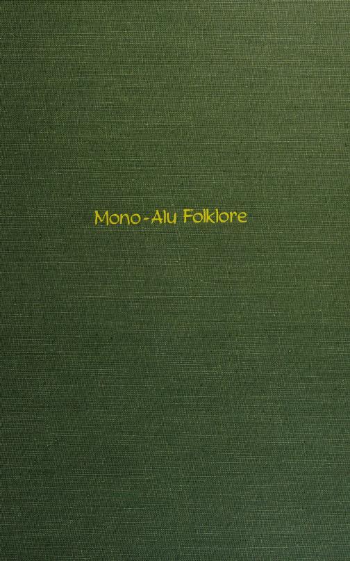 Mono-Alu folklore by G. C. Wheeler