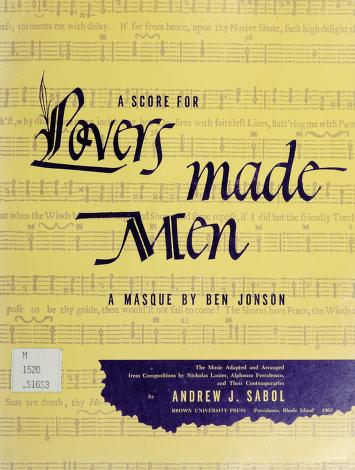 Cover of: A score for Lovers made men | Andrew J. Sabol