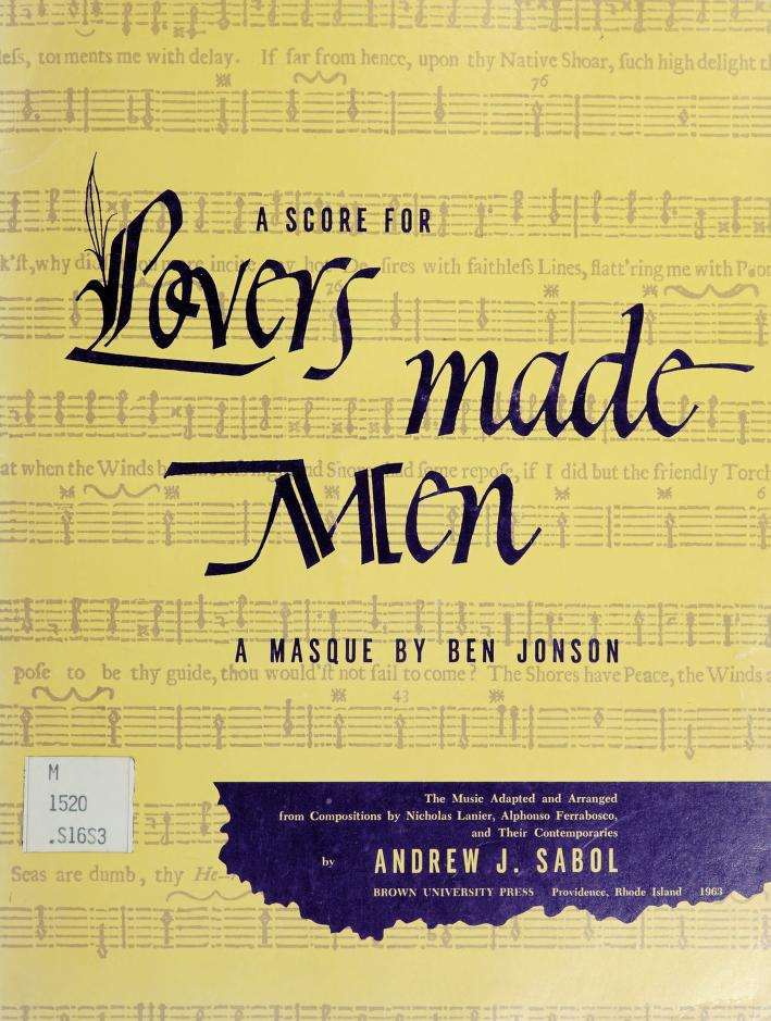 A score for Lovers made men by Andrew J. Sabol